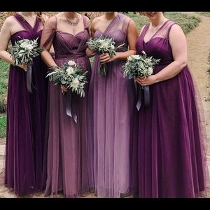 Jenny Yoo Annabelle Bridesmaid Dress, Lilac size 8